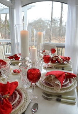 Romantic Table Decoration For Valentine's 33