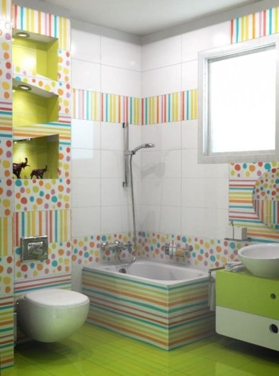 Stunning Colorful Bathroom Decoration For Your Kids 18