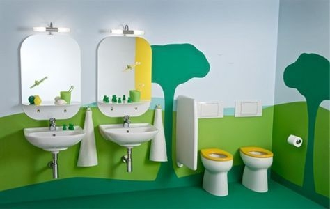 Stunning Colorful Bathroom Decoration For Your Kids 25