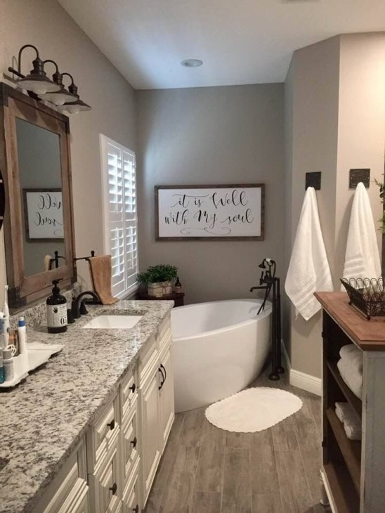 Vintage Farmhouse Bathroom Decor You Will Try 23