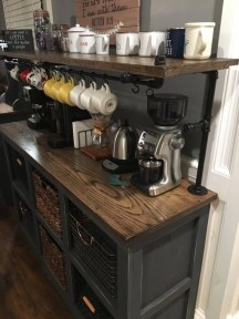 Amazing Diy Coffee Station Idea In Your Kitchen 04