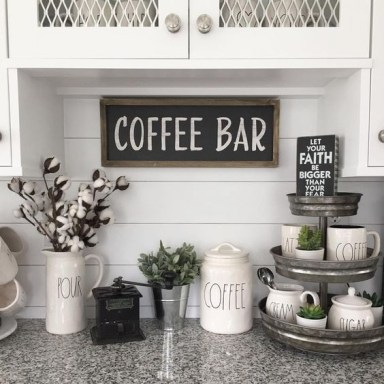 Amazing Diy Coffee Station Idea In Your Kitchen 32