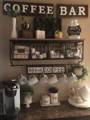 Amazing Diy Coffee Station Idea In Your Kitchen 33