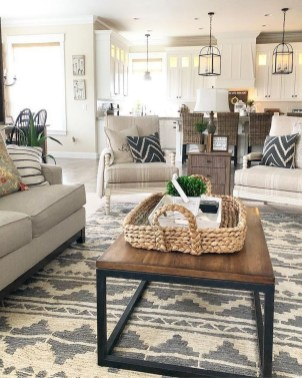 Cozy And Simple Rug Idea For Small Living Room 15