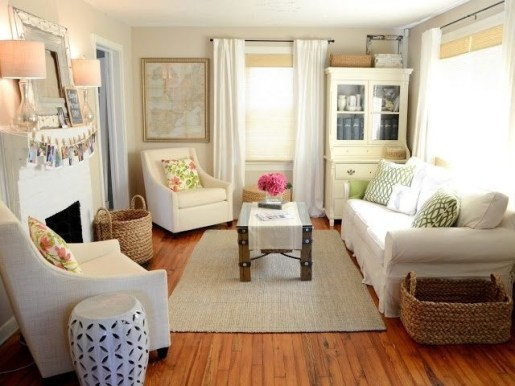 Cozy And Simple Rug Idea For Small Living Room 25