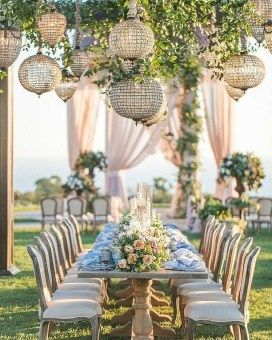 Create Beautiful Outdoor Wedding Decoration You Will Love 04