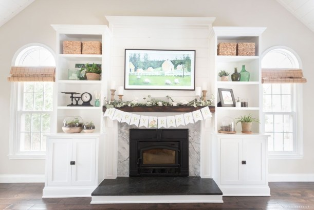 Spring Mantel Decorating Ideas For Fireplace In Living Room 08