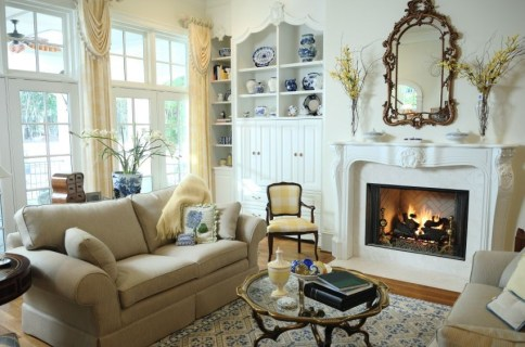 Spring Mantel Decorating Ideas For Fireplace In Living Room 16