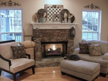 Spring Mantel Decorating Ideas For Fireplace In Living Room 17