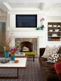 Spring Mantel Decorating Ideas For Fireplace In Living Room 29