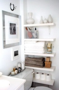 DIY Floating Shelves Bathroom Decor You Must Have 27