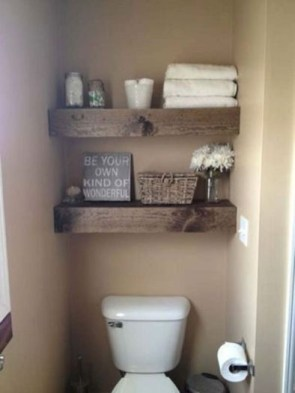 DIY Floating Shelves Bathroom Decor You Must Have 32