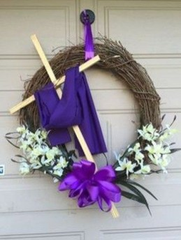 DIY Simple Spring Wreath For Your Door 11
