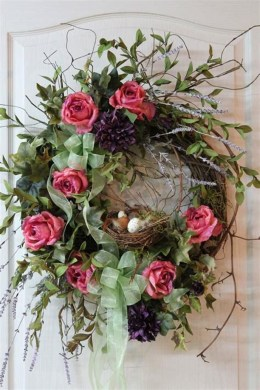 DIY Simple Spring Wreath For Your Door 19