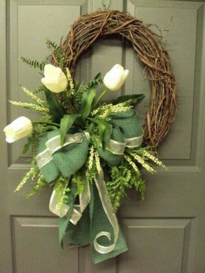 DIY Simple Spring Wreath For Your Door 21