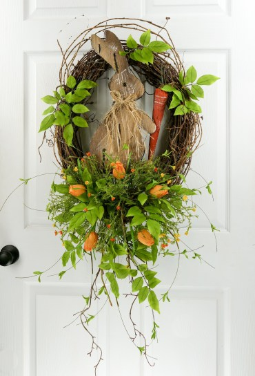 DIY Simple Spring Wreath For Your Door 33