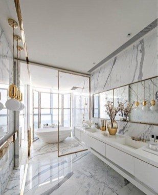 Elegant Modern Bathroom Design For Luxury Style 26