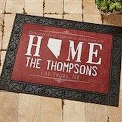 Tips Home Looks Unique With A Doormat Of Vinyl 08