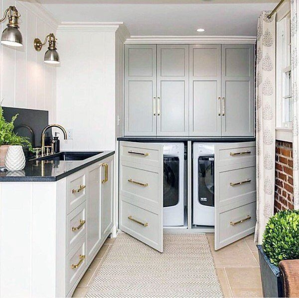 Ways To Make Small Laundry Room To Look Big Space 02
