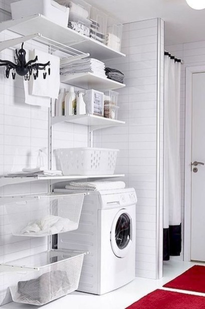 Ways To Make Small Laundry Room To Look Big Space 04