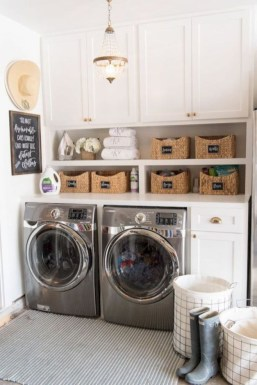 Ways To Make Small Laundry Room To Look Big Space 09