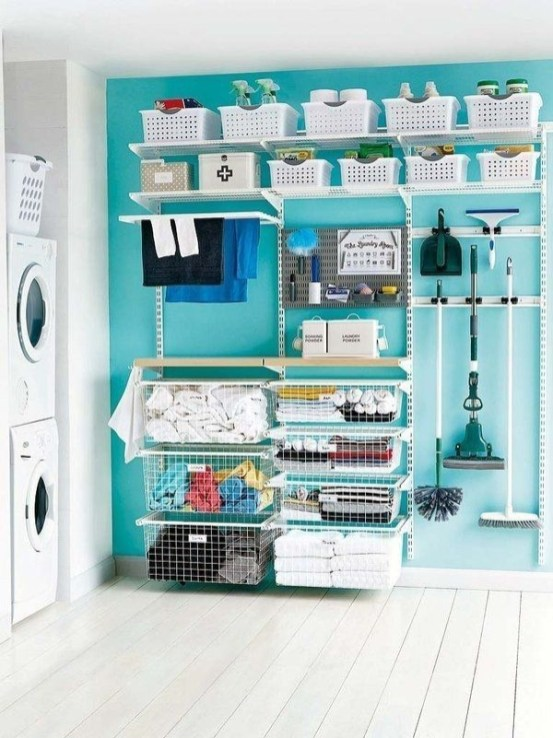 Ways To Make Small Laundry Room To Look Big Space 13