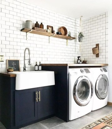 Ways To Make Small Laundry Room To Look Big Space 17