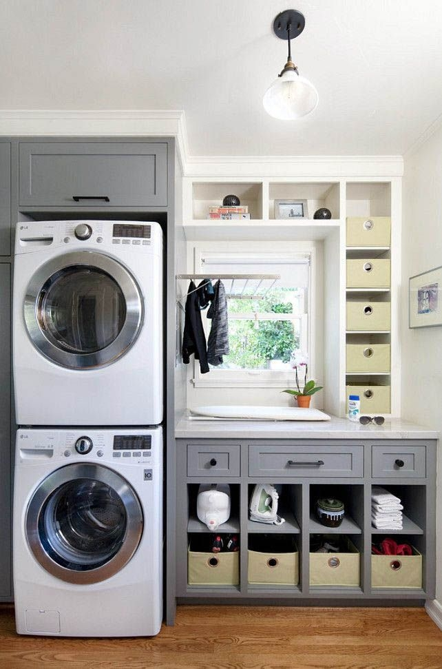 Ways To Make Small Laundry Room To Look Big Space 35