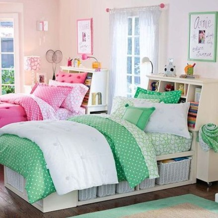 Amazing Double Bed For Teen College Bedroom 02