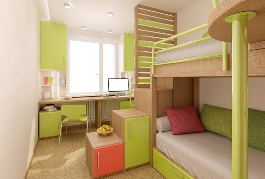 Amazing Double Bed For Teen College Bedroom 35