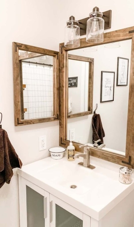 Industrial Farmhouse Bathroom Reveal 36
