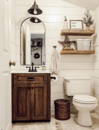 Amazing Farmhouse Bathroom Decor For Small Space 02