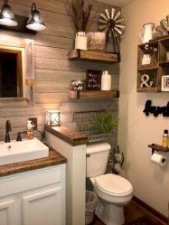 Amazing Farmhouse Bathroom Decor For Small Space 16