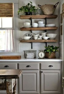 Amazing Modern Farmhouse Kitchen Decoration For Small Space 23