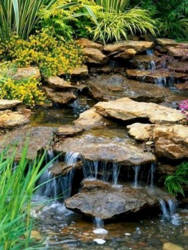 Awesome DIY Ponds Ideas With Small Waterfall 03