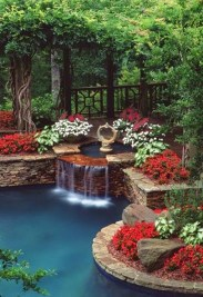 Awesome DIY Ponds Ideas With Small Waterfall 05