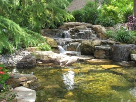Awesome DIY Ponds Ideas With Small Waterfall 06