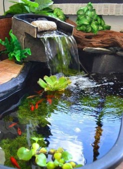 Awesome DIY Ponds Ideas With Small Waterfall 10