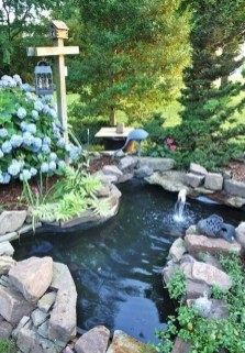 Awesome DIY Ponds Ideas With Small Waterfall 14