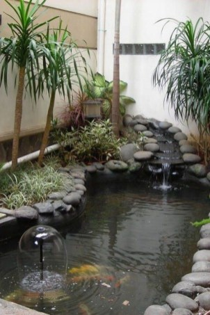 Awesome DIY Ponds Ideas With Small Waterfall 16