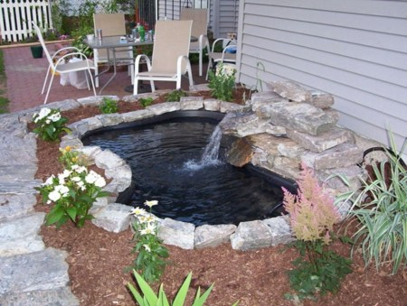 Awesome DIY Ponds Ideas With Small Waterfall 19
