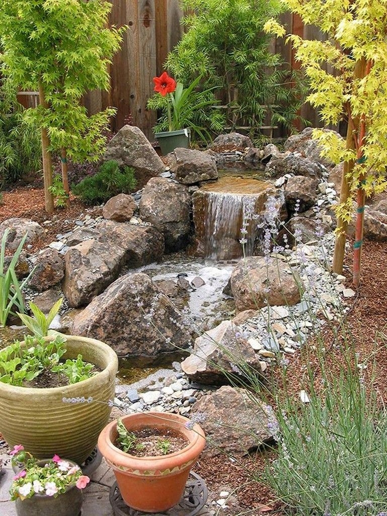Awesome DIY Ponds Ideas With Small Waterfall 23