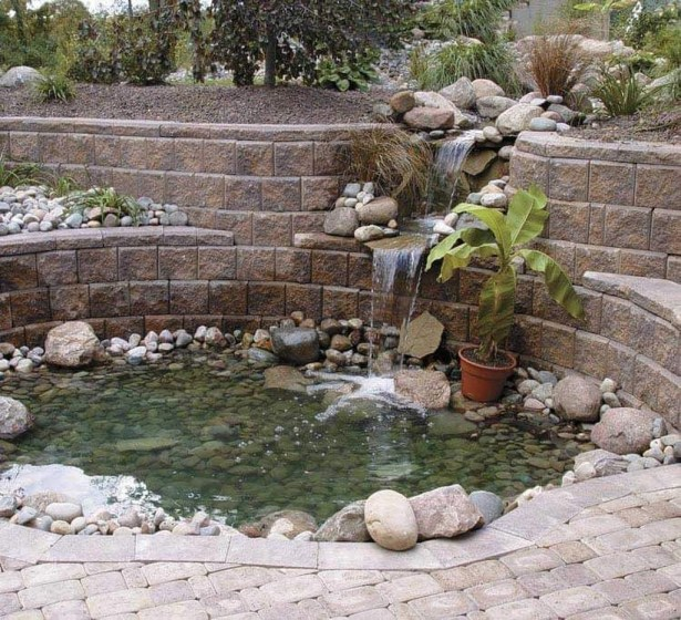 Awesome DIY Ponds Ideas With Small Waterfall 26