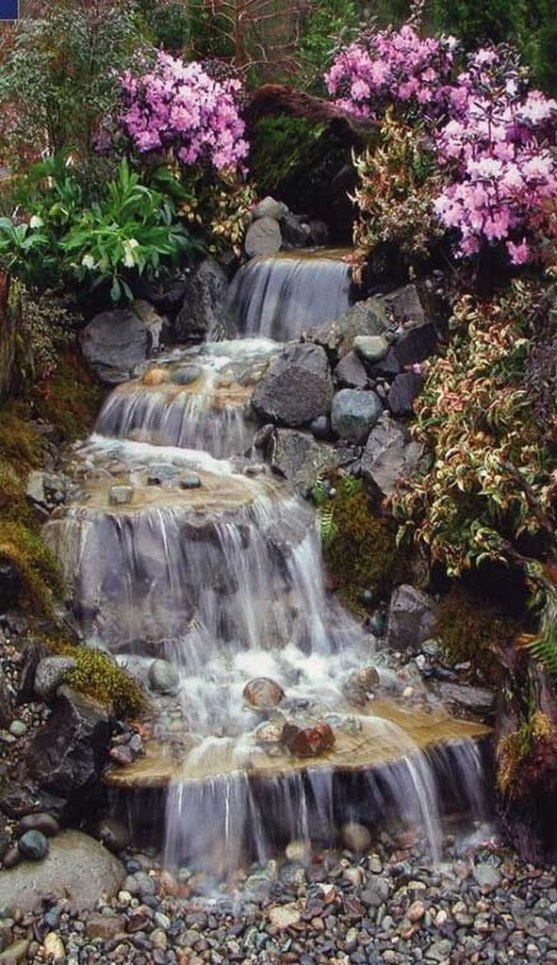 Awesome DIY Ponds Ideas With Small Waterfall 30