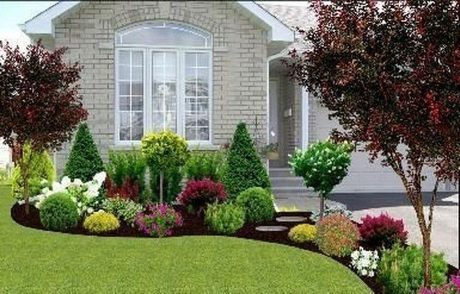 Fantastic Flower Landscape Design Ideas For Front Yard 07