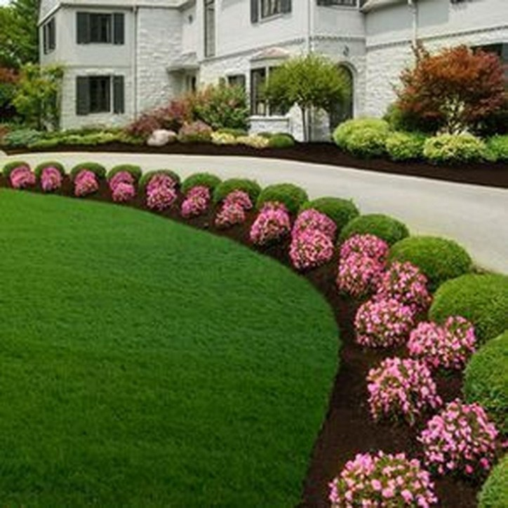 Fantastic Flower Landscape Design Ideas For Front Yard 10