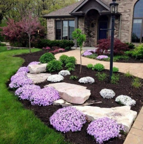 Fantastic Flower Landscape Design Ideas For Front Yard 12