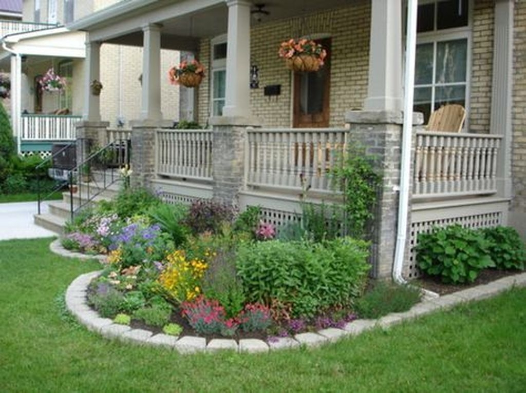 Fantastic Flower Landscape Design Ideas For Front Yard 39