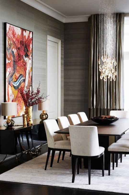 Inspiring Dining Room Table Design With Modern Style 37