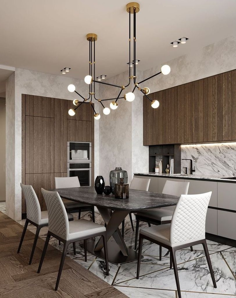 Inspiring Dining Room Table Design With Modern Style 39